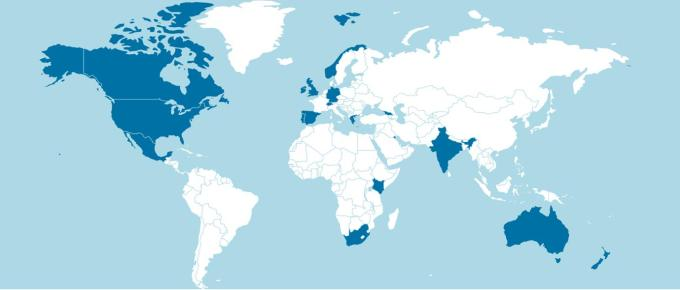 Participating countries - Twitter conference
